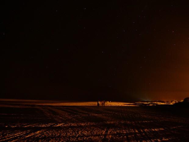 Grupo conseguiu avistar apenas estrelas no céu de Peruíbe (Foto: Jamil Vila Nova / Arquivo Pessoal)