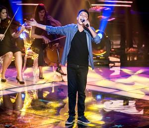 """Wagner Barreto cantou """"Romaria"""" e foi escolhida pelos técnicos Victor & Leo (Foto: Isabella Pinheiro/Gshow)"""