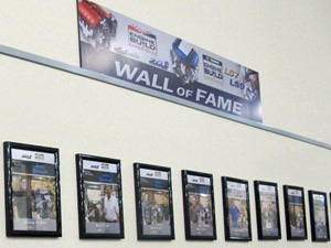 corvette wall of fame (Foto: Luciana de Oliveira/G1)