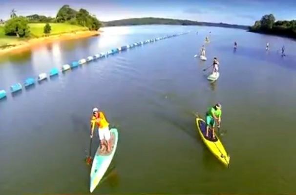 Revista de Sábado fala sobre o stand up paddle, um esporte que vem fazendo sucesso na região (Foto: Reprodução / TV TEM)