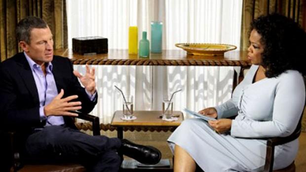 Lance Armstrong na entrevista para a Oprah (Foto: Reprodução)