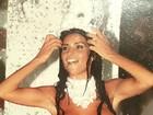 Solange Gomes relembra carnaval com foto de topless e primeiro silicone