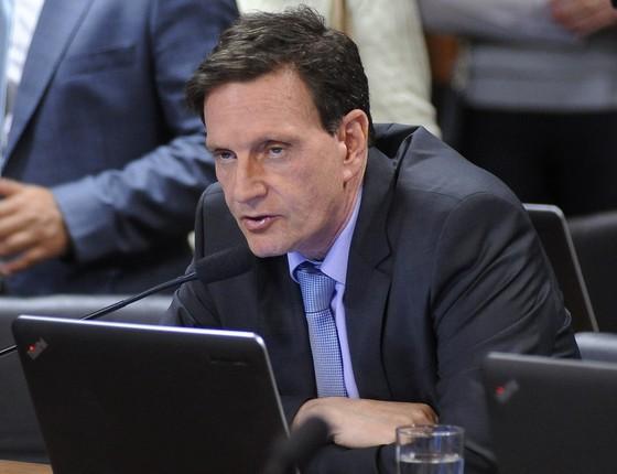 O senador Marcelo Crivella (PRB-RJ), em foto de 2015 (Foto: Pedro França/Agência Senado.)