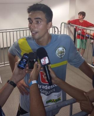 Cesar, goleiro do Flamengo (Foto: Thiago Lima)