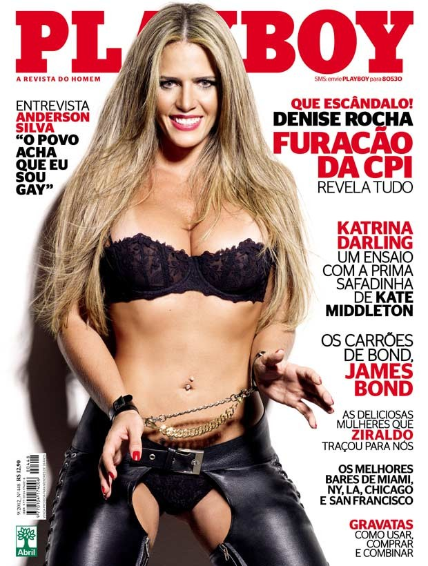 Playboy' divulga capa com ex-assessora parlamentar (Foto