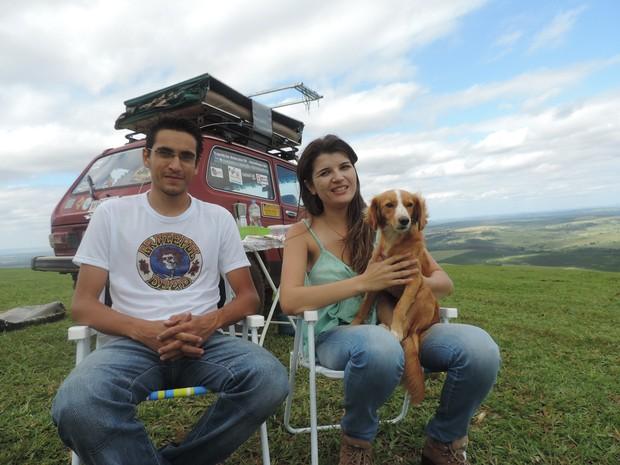 Casal viajará por 21 dias de Botucatu até à Bahia (Foto: Ana Carolina Levorato/G1)