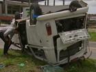 Acidente entre ônibus e Kombi deixa feridos na BR-101 Norte