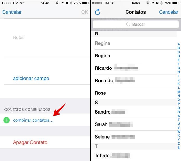 Localize o contato que será combinado (Foto: Reprodução/Helito Bijora)
