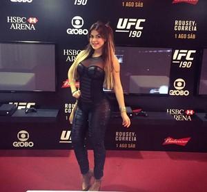 Torales esteve no UFC Ronda x Bethe realizado no Rio de Janeiro (Foto: Arquivo pessoal)