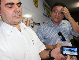 José Luís Vasconcelos, presidente da CBC e Galba Coelho secretário da SEMEL (Foto: Náyra Macêdo/GLOBOESPORTE.COM)