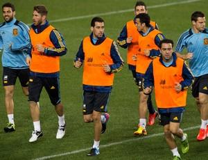 treino espanha (Foto: AFP)