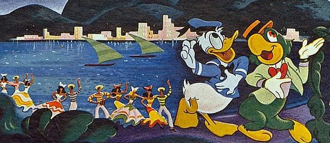 Pato Donald e Zé Carioca no filme Aquarela do Brasil (Watercolor of Brazil), direção Wilfred Jackson, produção Walt Disney, 1942 (Foto: Divulgação)