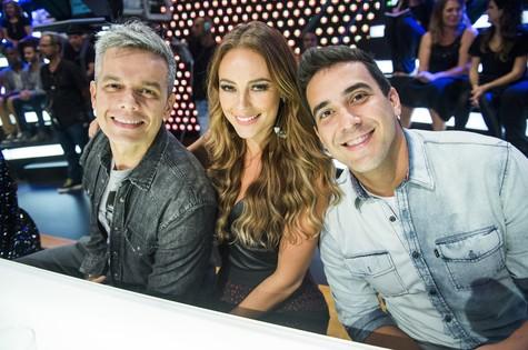 Otaviano Costa, Paolla Oliveira e André Marques (Foto: João Miguel Júnior/ TV Globo)
