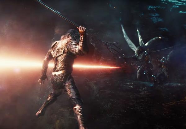 Aquaman em cena de 'Liga da Justiça' (Foto: Reprodução)