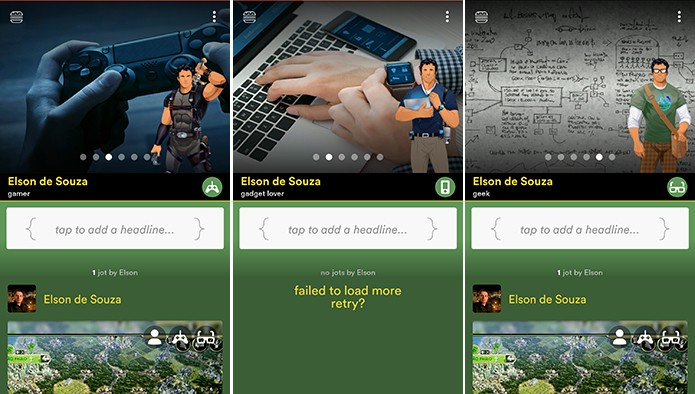 Hello é uma rede social focada nos gostos dos usuários em forma de Personas (Foto: Reprodução/Elson de Souza)