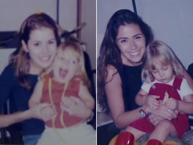 À esquerda, Júlia com Deborah Secco e, à direita, com Giovanna Antonelli (Foto: Arquivo pessoal)