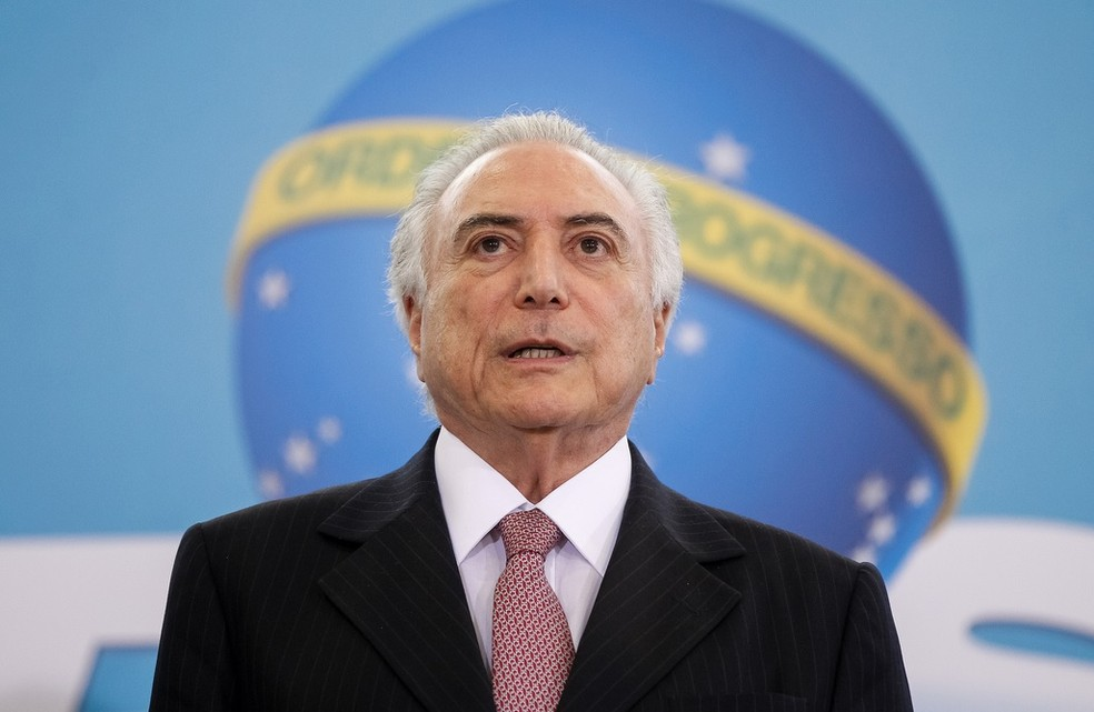 O presidente Michel Temer, durante evento no Palácio do Planalto (Foto: Beto Barata/PR)