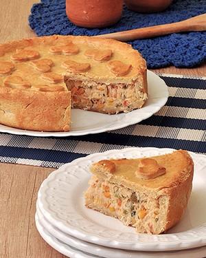 Torta de frango com requeijão cremoso (Foto: Divulgação)
