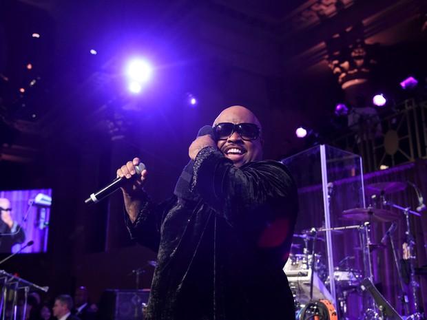 Cee Lo Green faz show em evento em Nova York, nos Estados Unidos (Foto: Jamie McCarthy/ Getty Images/ AFP)