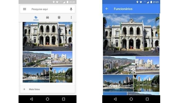 Fotos da região exibida no mapa do Google (Foto: Reprodução/Raquel Freire)