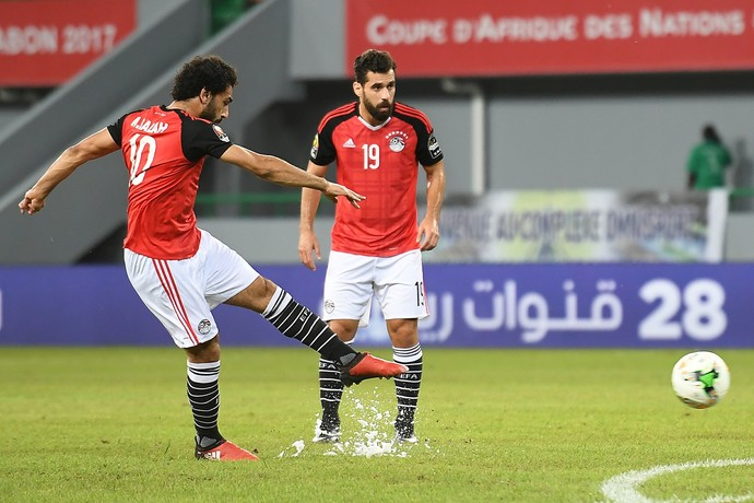 Mohamed Salah Egito x Gana (Foto: AFP)