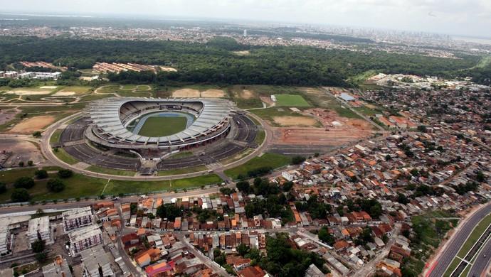 vista aérea do Mangueirão (Foto: Fernando Araújo/O Liberal)