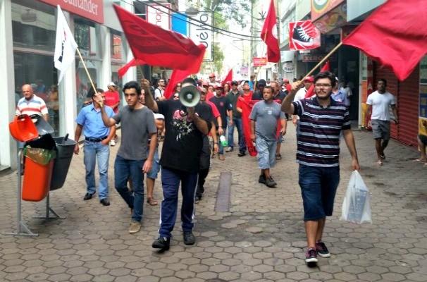 sindicato dos metalúrgicos rs (Foto: Manoel Soares/RBS TV)