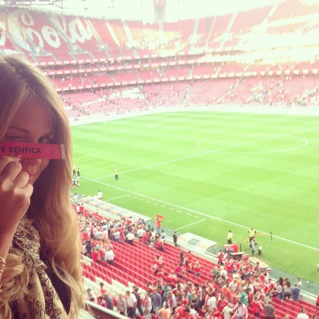 Susana Werner no Estádio da Luz (Foto: Reprodução/ instagram)