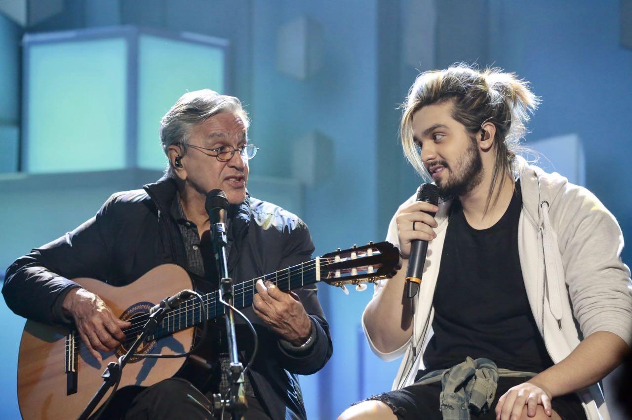 Luan e Caetano (Foto: Juliana Coutinho/Multishow)