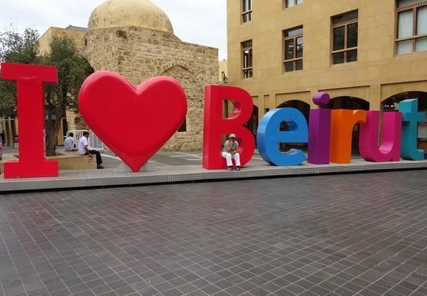 Escultura na cidade de Beirute (Foto: The Girls on the Road)