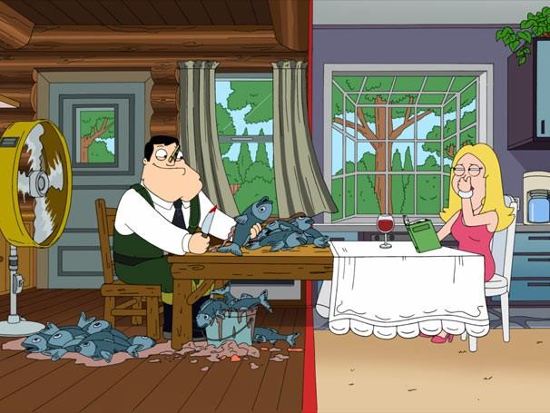 Diante do impasse, o casal decide criar uma linha dividindo a casa ao meio (Foto: Divulgação / Twentieth Century Fox)