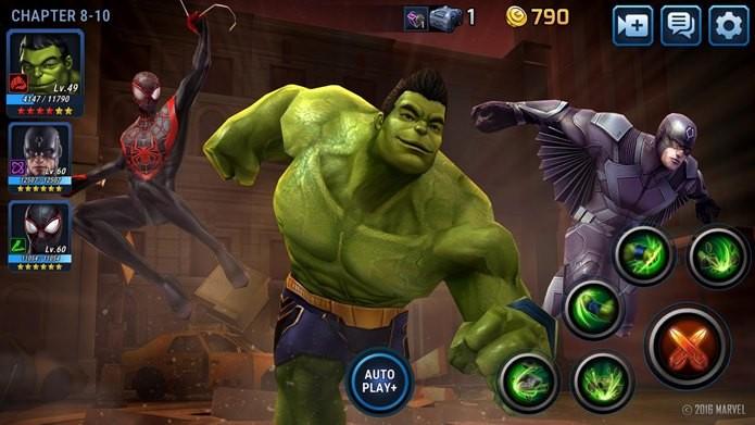Hulk sorridente é um dos novos personagens de Marvel Future Fight (Foto: Divulgação / Netmarble)