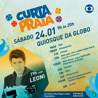 O cantor Leoni se apresenta no Curta, Praia no dia 24 de janeiro, às 19h, em Copacabana (Foto: Globo)