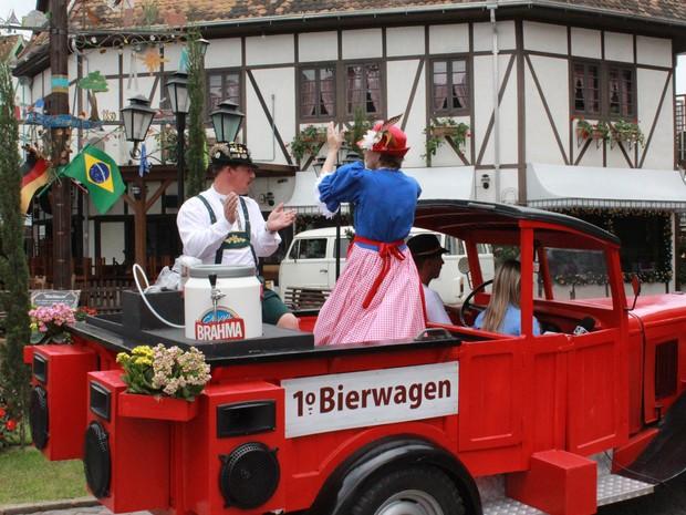 Bierwagen distribui cerveja até dia 25 de outubro em Blumenau (Foto: Mariângela Hoffmann/Divulgação)