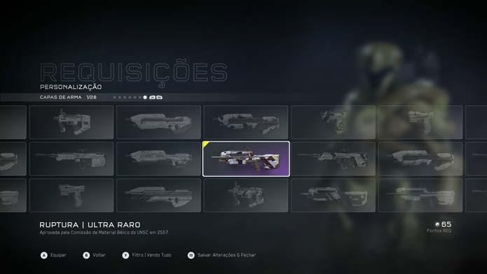 Capas de armas raras também podem ser encontradas nos pacotes (Foto: Reprodução/Murilo Molina)