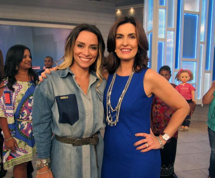 Fátima com a atriz Suzana Pires (Foto: Viviane Figueiredo Neto/Gshow)