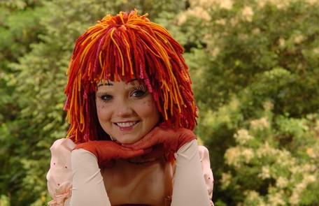Na mais recente versão do 'Sítio do picapau amarelo', em 2007, a atriz foi a boneca Emília TV Globo/Renato Rocha Miranda