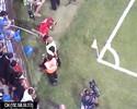 """Bastia publica novo vídeo de suposta agressão a Lucas: """"Simulação"""""""