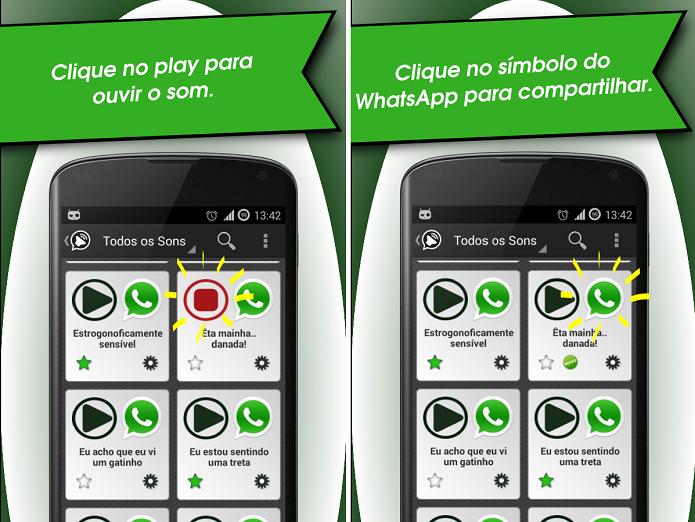 Sons Engraçados para WhatsApp é um divertido app para enviar áudios divertidos  (Foto: Divulgação)