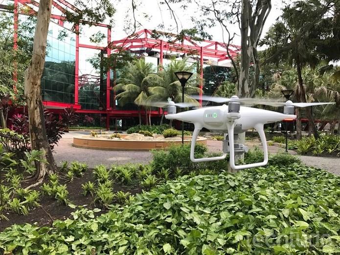 Drones são ideais para fazer imagens aéreas com qualidade (Foto: Anna Kellen Bull/TechTudo)