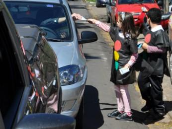 Crianças de escolas municipais farão blitz educativas no trânsito de Cianorte (Foto: Divulgação/ Prefeitura de Cianorte)