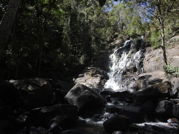 Cachoeira dos Macacos é local privado com entrada gratuita (Foto: Pâmela Fernandes/ G1)