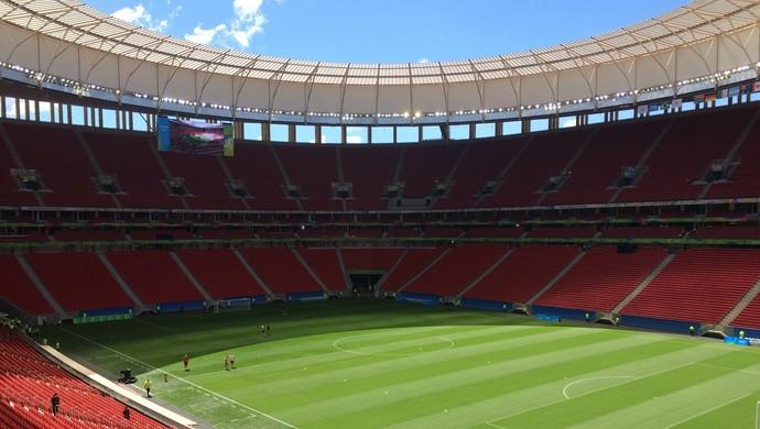 Brasil África do Sul Mané Garrincha Brasília Olimpíada futebol (Foto: Fernando Vasconcelos)