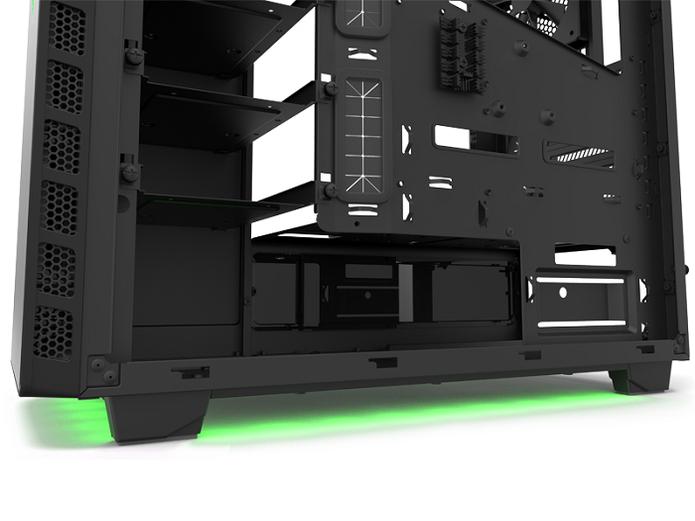 Detalhes da organização interna do NZXT H440 designed by Razer (Foto: Divulgação/Razer)