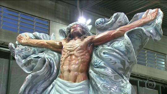 Alegoria mangueirense que junta Cristo e Oxalá é vetada no Desfile das Campeãs