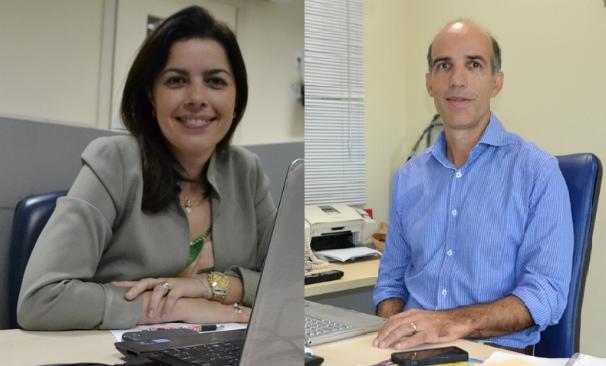 Joelma Gonçalves (Coordenadora do G1) e Pedro Varoni (Diretor de Jornalismo) (Foto: Divulgação / TV Sergipe)