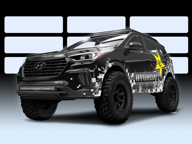 Hyundai Rockstar Santa Fe Concept (Foto: Divulgação)