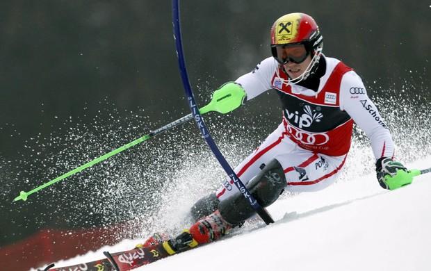 Marcel Hirscher Zagreb Copa do Mundo de esqui alpino (Foto: Reuters)