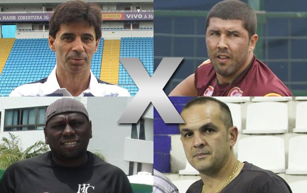 Montagem, Ex-Craques, Futsal e Futebol de Campo (Foto: Editoria de Arte / Globoesporte.com)