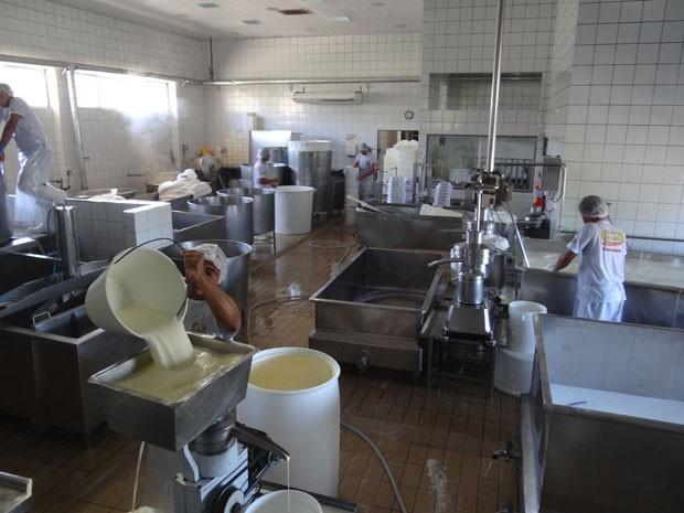 Fábrica de leite em Venturosa, PE (Foto: Luna Markman / G1)
